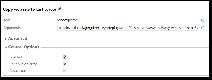 TFS 2015: Publish ASP NET Using Robocopy | Software Meadows